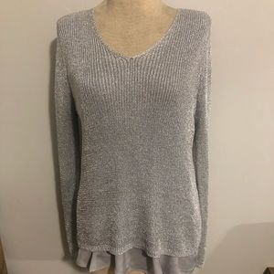 Chico's Silver Lurex Sweater